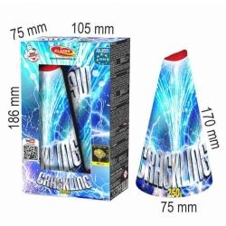 Vulkán 250 g strieborné praskajúce hviezdy, 2 ks v bal.