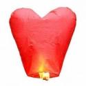 Lampión šťastia - červené srdce