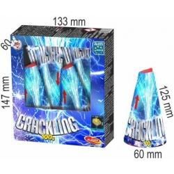 Vulkán 100 g dvojité strieborné praskajúce hviezdy, 4 ks v bal.